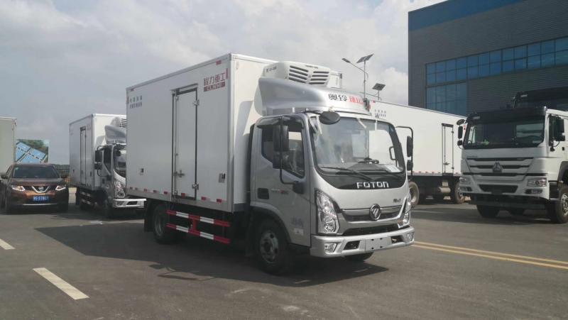 厂家直销福田奥铃4.2米蓝牌冷藏车
