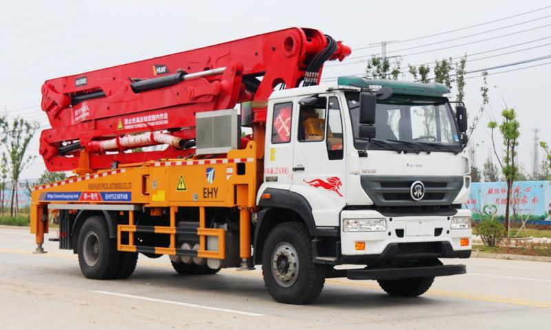重汽斯太尔小型混凝土臂架天泵车37米