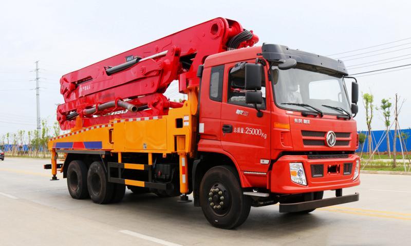 东风御龙小型混凝土臂架天泵车35米
