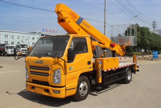 国六江铃蓝牌23米直臂伸缩式高空作业车